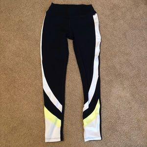Splits59 Black Colorblock Stripe Workout Leggings